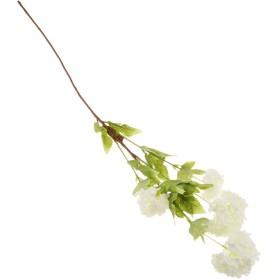 B Blesiya 4ヘッド 人工アジサイ 造花 シミュレーション ブーケ 装飾 白