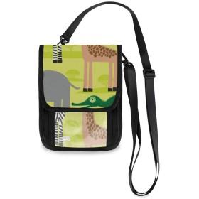 ショルダーバック アフリカの動物 アニマル柄 斜め掛けバッグ 肩掛け スマホポーチ ポシェット 女性用ポーチ 携帯ウォレット 旅行 レディース 軽量携帯ポーチ カバン 携帯電話の財布 パスポートバッグ かわいい 縦型