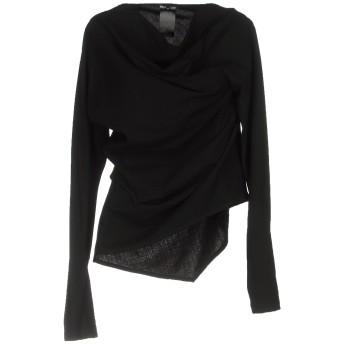 《セール開催中》ANN DEMEULEMEESTER レディース T シャツ ブラック 36 ウール 86% / ナイロン 9% / ポリウレタン 5%