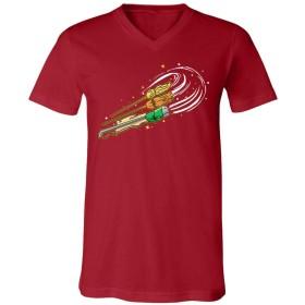 トップTシャツ Women's Three Magic Broomsticky 皮肉なグラフィックノベルティファニー VネックTシャツ