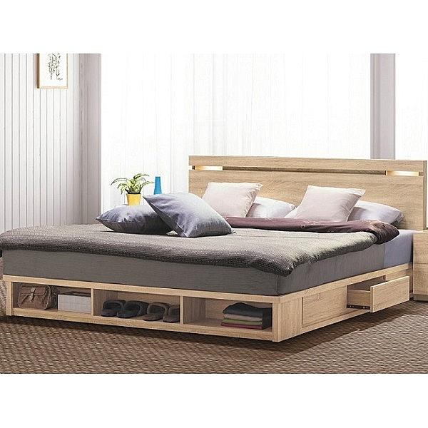 床架 BT-39-12A 多莉絲6尺夜燈雙人床 (床頭+床底)(不含床墊) 【大眾家居舘】