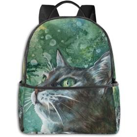猫の絵 リュック バックパックリュックサック 大容量 PCバッグ レジャーバッグ 旅行カバン 登山リュック ビジネスリュック ユニセックス おしゃれ 人気