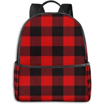 バックパック メンズ レディース ビジネス おしゃれ 高校生 通勤 大容量 多機能 盗難防止 防水 通学 旅行鞄 レッドフランネルグリッドプラッド