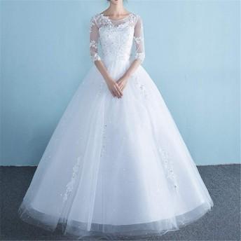 ウェディングドレス 花嫁 オフショルダー スリム