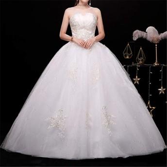 ビスチェ 結婚式 花嫁 ウェディングドレス スリム パーティー 写真 イブニングドレス