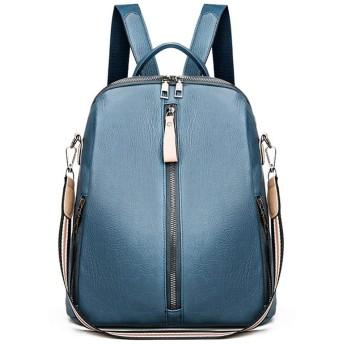 3way リュック レディース PU 皮革レザー ショルダー バッグ ハンドバッグ 軽量 大容量 防水 大人 ビジネス 通勤 通学 旅行 bag for women (Bブルー)