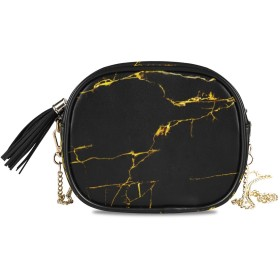 NIESIKKLA レディース チェーンバッグ、おしゃれ ミニ グ ショルダーバッグ シンプル 合わせやすい 多機能 結婚式 パーティーバッグ、大理石模様のテクスチャ背景ゴールドコンセプト