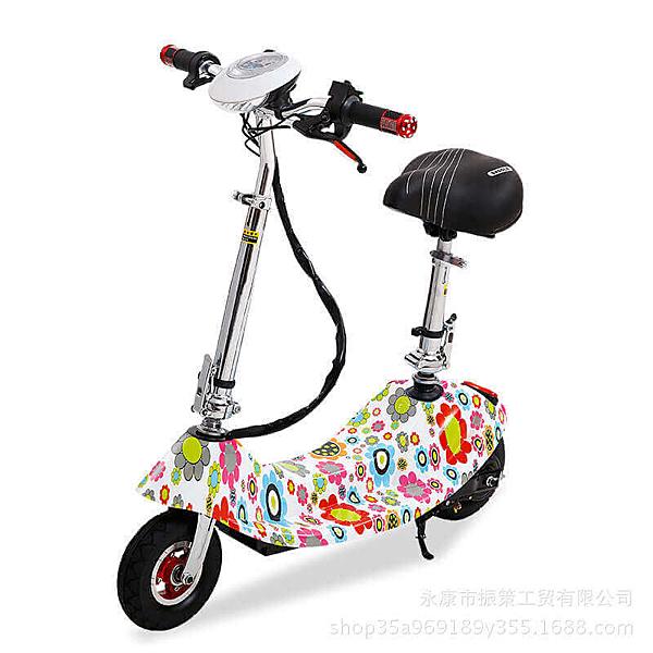 現貨買一送四 2020年升級新款時尚爆走蝸牛迷你折疊滑板電動車 腳踏車(可跑20-25公里) 電瓶車