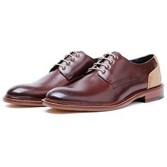 [Jusheng-shoes] メンズシューズ メンズビジネスレザーメンズシューズハイグレードレースカジュアル カジュアルシューズ (Color : Brown, Size : 42-EU)