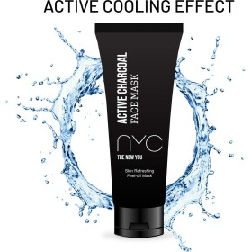 N.Y.C.INC Active Charcoal Face Peel Off Mask for Black head removal Oil control anti pollution with activated charcoal Aloe vera extract Glyecerine and Lemon oil for Men and for Women 60gm