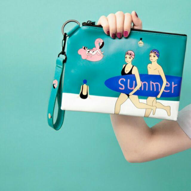 YIZI Holiday系列皮革手拿包