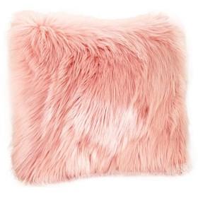 ベッド枕 ふわふわソリッドカラーの暖かいソフトぬいぐるみピローケースウエストスロークッション 寝具 (Color : Pink)