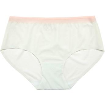 GISEII レディース ショーツ シームレス 無縫製 普通のショーツより3倍薄い 吸汗速乾 快適フィット 響きにくい パンツ 下着(若芽色, M)