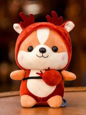 玩偶公仔 可愛小松鼠公仔恐龍毛絨玩具兒童玩偶圣誕節女生日禮物麋鹿布娃娃JY  聖誕節禮物
