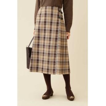 【ナチュラルビューティーベーシック/NATURAL BEAUTY BASIC】 チェックキルトスカート