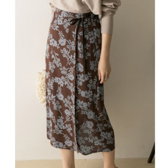 【アーバンリサーチ/URBAN RESEARCH】 UR サラサフラワープリントタイトスカート