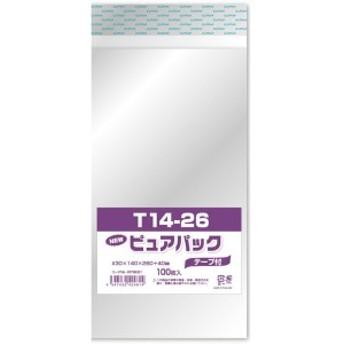 エスティシー 透明 袋 ピュアパック テープ付 T14-26 100枚入