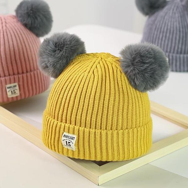 兒童帽子 毛線帽子針織秋冬季兒童加絨女童0.1男童2韓版潮3歲