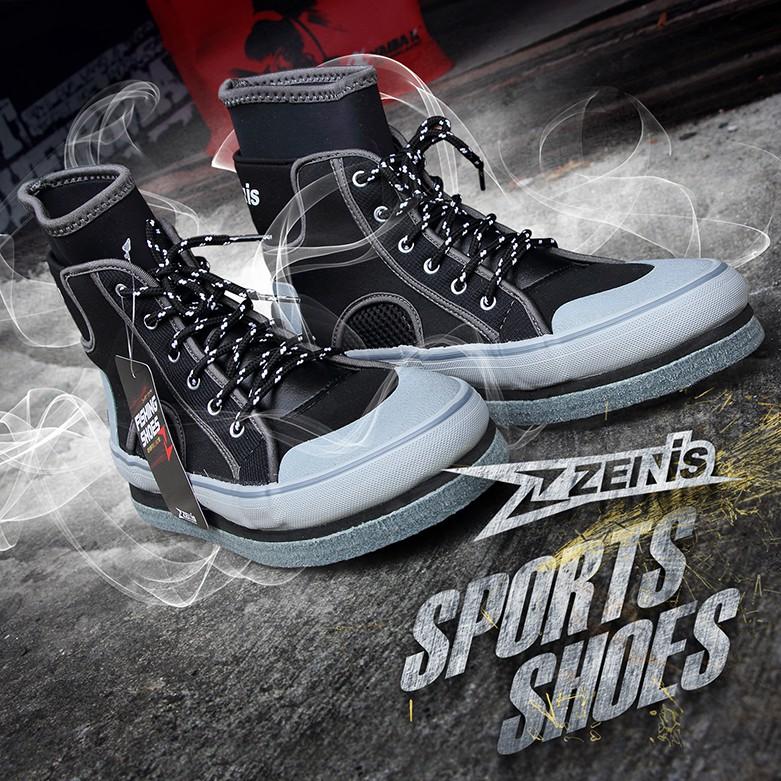 [ ZENIS ] 專業戶外 防滑 運動鞋 台灣製造 釣魚釘鞋 防滑鞋 磯釣釘鞋 溯溪鞋 菜瓜布釘鞋 毛氈釘鞋