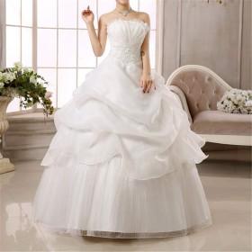 ウェディングドレス 花嫁 ビスチェ 結婚 レース パーティードレス