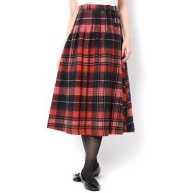 【サマンサモスモス/Samansa Mos2】 ベルト付き柄アソートキルトスカート