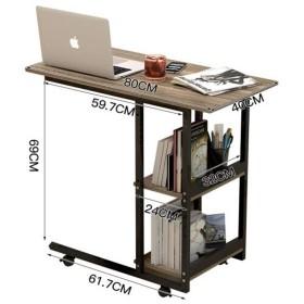 XLEIYI 表世帯小さなテーブルダイニングダイニングテーブル可動式リフトソファサイドテーブルベッドデスク (Color : Mahogany)
