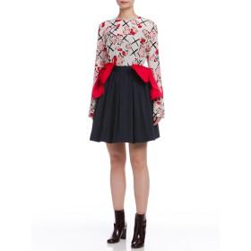 【75%OFF】ビッグリボン ギャザースカート ネイビー 40