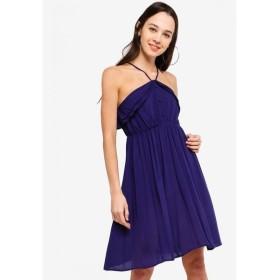 サムシングボロウド Something Borrowed レディース ワンピース ワンピース・ドレス Ruffled Cami Dress Navy