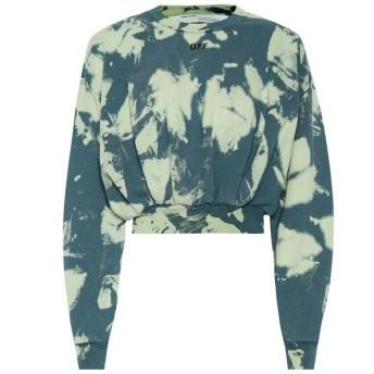 オフホワイト Off-White レディース ニット・セーター トップス Tie-dye printed cotton sweater Gasoline White