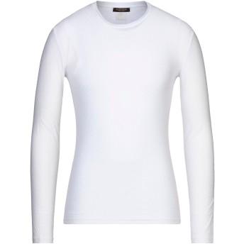 《セール開催中》ROBERTO CAVALLI メンズ アンダーTシャツ アイボリー 48 コットン 50% / レーヨン 40% / ポリウレタン 10%