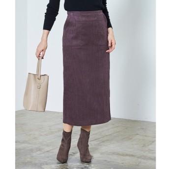 【ティティベイト/titivate】 ウエストバックゴムコーデュロイタイトスカート
