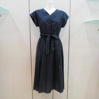 ルイシャンタン Lui Chantant レディース コットンシャツストライプワンピース (アウトレット30%OFF) 通常販売価格:17600円