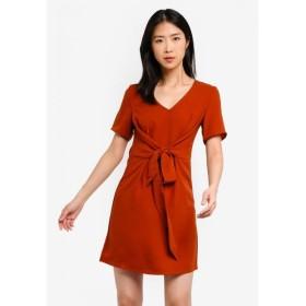 ザローラ ZALORA BASICS レディース ワンピース ワンピース・ドレス Basic Twist Tie Dress Burnt Orange