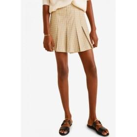 マンゴ Mango レディース ミニスカート スカート Check Mini Skirt Light Beige