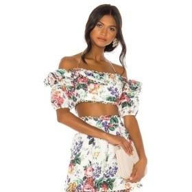 ジマーマン Zimmermann レディース オフショルダー トップス Allia Pintuck Off Shoulder Top White Floral