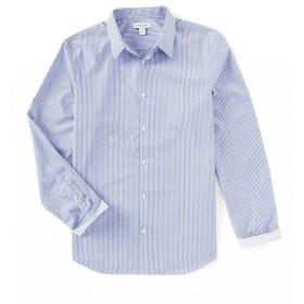 【残り1点!】【サイズ:M】カルバンクライン Calvin Klein メンズ トップス シャツ Vertical Stripe Long-Sleeve Woven Shirt Clear Sky