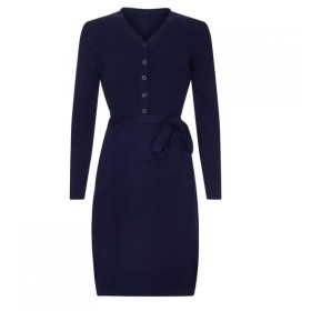 ユミ Yumi レディース ワンピース ワンピース・ドレス Knitted Ribbed Dress Navy