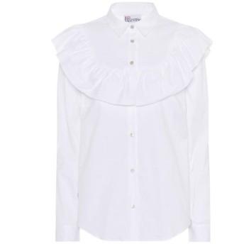レッド ヴァレンティノ REDValentino レディース ブラウス・シャツ トップス Ruffle-trimmed cotton-blend blouse Off-White