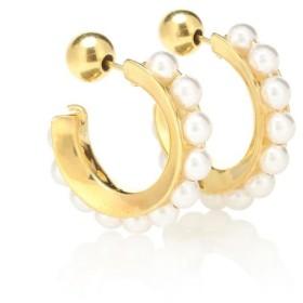 ソフィ ブハイ Sophie Buhai レディース イヤリング・ピアス ジュエリー・アクセサリー 18kt gold-plated and faux pearl hoop earrings