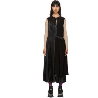 ジュンヤ ワタナベ Junya Watanabe レディース ワンピース ワンピース・ドレス Black Mix Georgette Dress Black