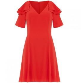 ダンセル Damsel in a Dress レディース ワンピース ワンピース・ドレス Juna Ruffle Cold Shoulder Dress Red