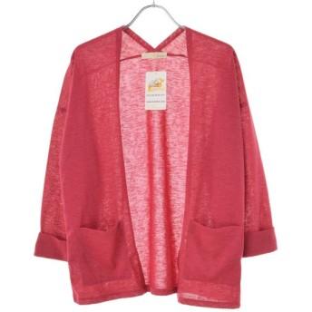 Pink adobe / ピンクアドベ ポリスラブ 長袖カーディガン