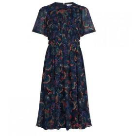 トミー ヒルフィガー Tommy Hilfiger レディース ワンピース ワンピース・ドレス Blair Paisley Dress Navy