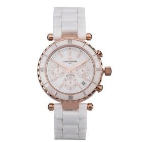 カルロ カルディーニ Carlo Cardini レディース 腕時計 Watch 506LC-RG-1 White/Rose Gold