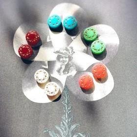 【10コセット】JIRI*IVANA czech beads#チェコビーズ 粗野なホイール14㎜ ミックスアソート/ブロンズ