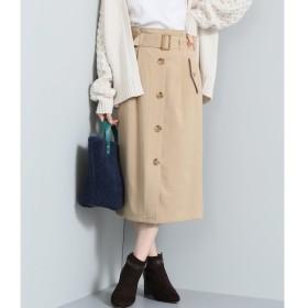 【ビス/ViS】 ベルト付きトレンチIラインスカート