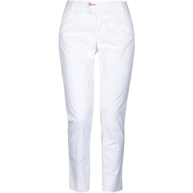 《セール開催中》BARONIO レディース パンツ ホワイト 25 コットン 98% / ポリウレタン 2%