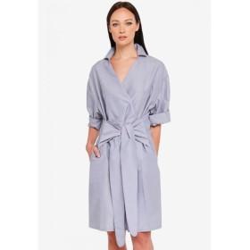 スリーザレーベル 3thelabel レディース ワンピース ワンピース・ドレス Sigourney Wrap Shirt Dress Grey