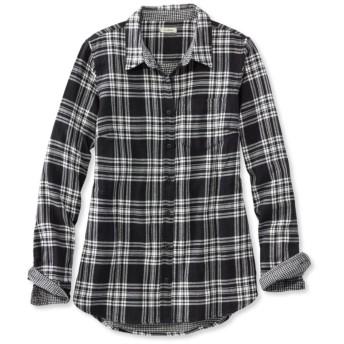 ダブルクロス・フランネル・チュニック、プラッド/Doublecloth Flannel Tunic, Plaid
