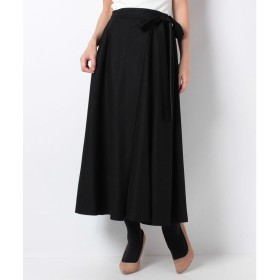 レリアン 【特別提供品】リボン付きフレアースカート(ブラック)【返品不可商品】